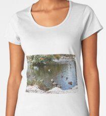Ducks on a Pond Women's Premium T-Shirt
