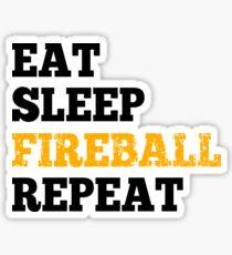 Eat Sleep Fireball Repeat - Design for RPG Gamers Sticker