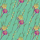 flower stripe green by hahaha-creative