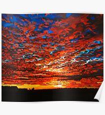 Dappled Sunset Over Garryvoe Poster