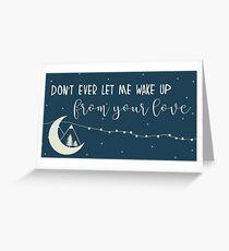 dream in a dream Greeting Card