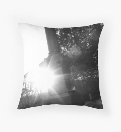 Tombstone Black&White Throw Pillow