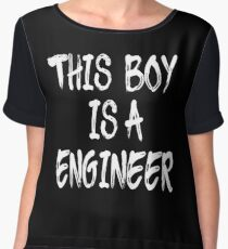 This Boy is a Engineer Chiffon Top