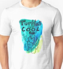 Turtles Are Cool Watercolor Unisex T-Shirt