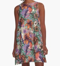 Bullfinch Floral Pattern A-Line Dress