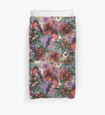 Bullfinch Floral Pattern Duvet Cover