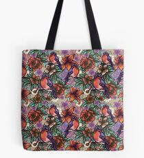 Bullfinch Floral Pattern Tote Bag