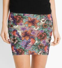 Bullfinch Floral Pattern Mini Skirt