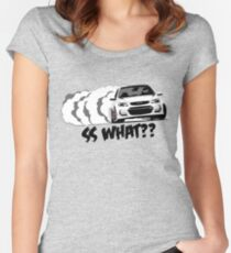 2016-17 Chevrolet SS White 2 Women's Fitted Scoop T-Shirt