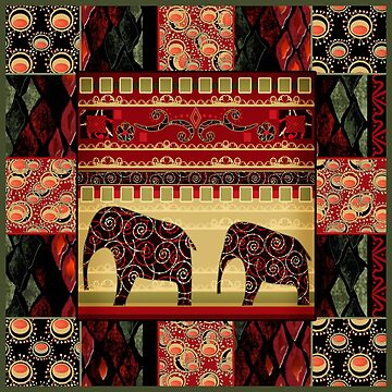 African print with elephants by fuzzyfox