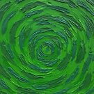 untitled green abstract by jjuno