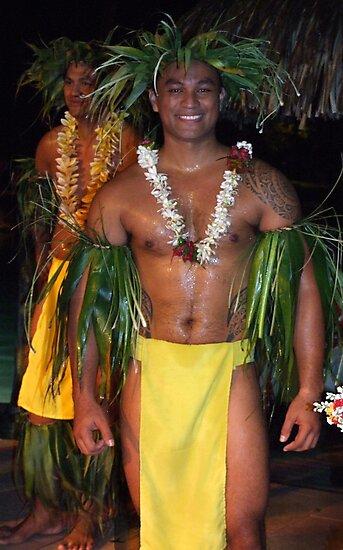 Tahitian Dancers by John Douglas