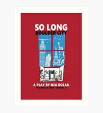 LA LA LAND SO LONG BOULDER CITY Art Print