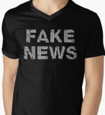Fake News Propaganda  Men's V-Neck T-Shirt