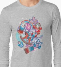 Children's Toys Colorful Cute Pattern and Illustration Long Sleeve T-Shirt