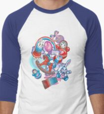 Children's Toys Colorful Cute Pattern and Illustration Baseball ¾ Sleeve T-Shirt