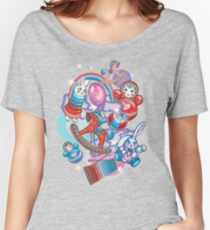 Children's Toys Colorful Cute Pattern and Illustration Women's Relaxed Fit T-Shirt