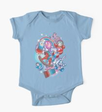 Children's Toys Colorful Cute Pattern and Illustration Short Sleeve Baby One-Piece