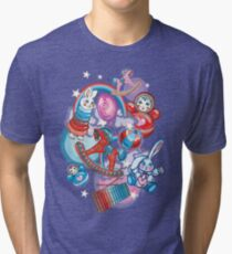 Children's Toys Colorful Cute Pattern and Illustration Tri-blend T-Shirt