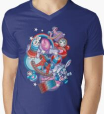 Children's Toys Colorful Cute Pattern and Illustration V-Neck T-Shirt