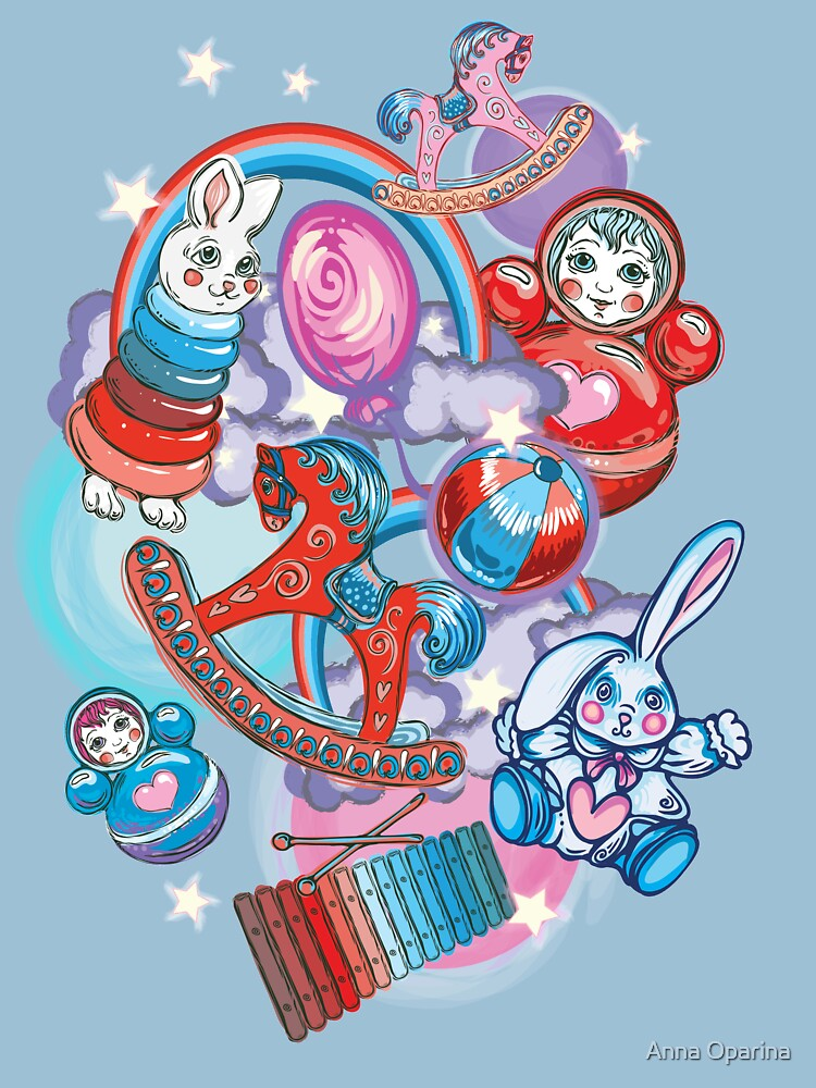 Children's Toys Colorful Cute Pattern and Illustration by Oparina