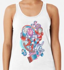 Children's Toys Colorful Cute Pattern and Illustration Racerback Tank Top