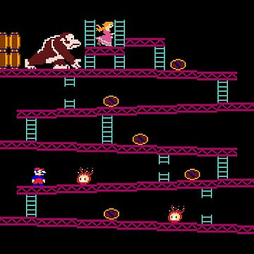Donkey Kong Retro Vintage Arcade Game Design by digsterdesigns