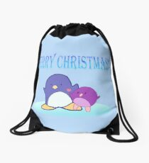 Merry Christmas Drawstring Bag