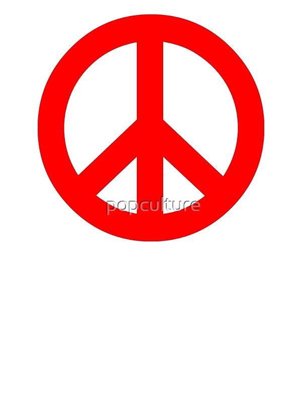 Quot Red Peace Sign Symbol Quot Photographic Prints By Popculture