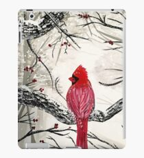 Red Robins Winter iPad Case/Skin