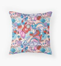Children's Toys Colorful Cute Pattern and Illustration Throw Pillow