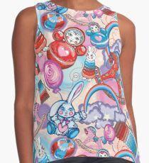 Children's Toys Colorful Cute Pattern and Illustration Sleeveless Top