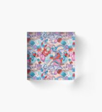 Children's Toys Colorful Cute Pattern and Illustration Acrylic Block