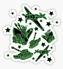 Military Forces Line Art  Sticker