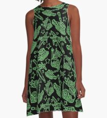 Military Forces Line Art  A-Line Dress
