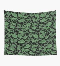 Military Forces Line Art  Wall Tapestry