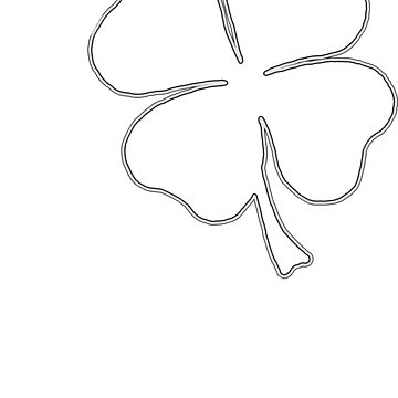 Clover Outline by JohnnyIronic