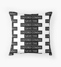 Save the Oxford Comma Throw Pillow