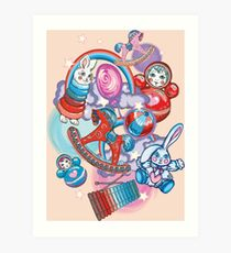 Children's Toys Colorful Cute Pattern and Illustration Art Print