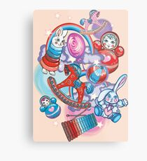 Children's Toys Colorful Cute Pattern and Illustration Metal Print