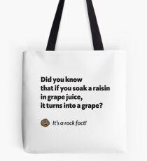 It's a rock fact! #1 Tote Bag