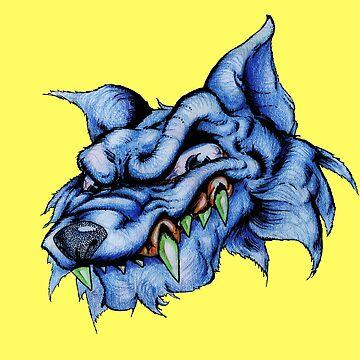 Wolf (blue) by JohnnyIronic