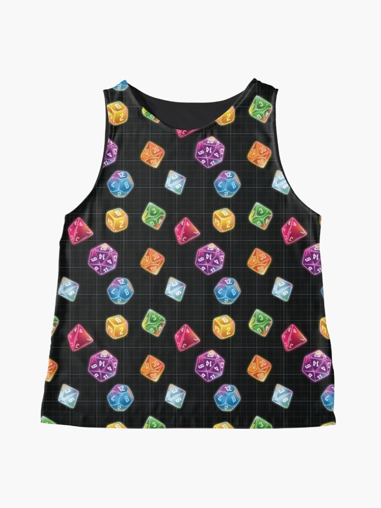 Alternate view of Dungeon Master Dice Sleeveless Top