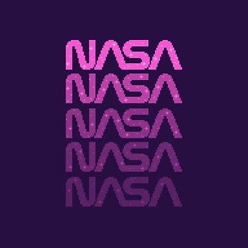 Pink Pixel NASA Worm by sp8cebit