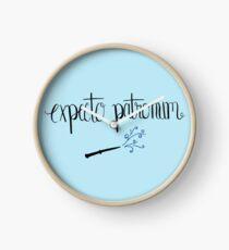Expecto Patronum Light Blue Clock