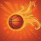 Feuer Basketball Ball Hintergrund von AnnArtshock