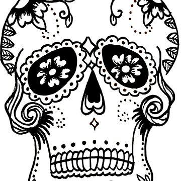 Dia De Los Muertos Skull by Claireandrewss