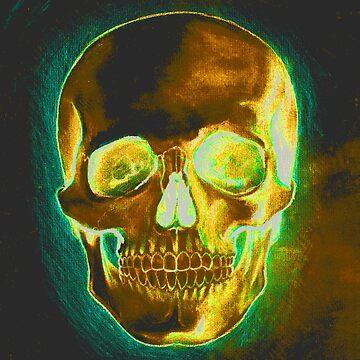 Gold Skull by JohnnyIronic