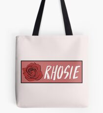 "Rho Psi Eta ""Rhosie"" - Salmon Rose Tote Bag"