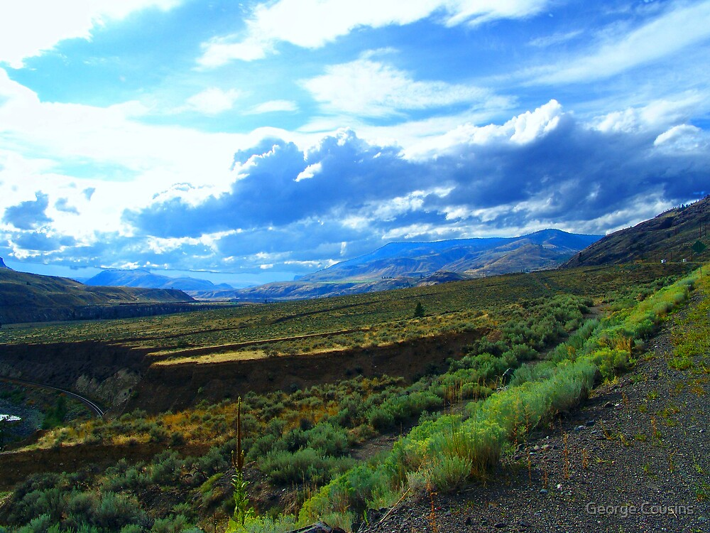 Between Kamloops and Cache Creek (1) by George Cousins
